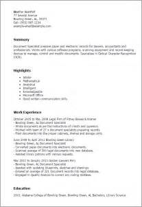 office specialist resume summary professional document specialist templates to showcase