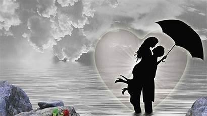 Rain Rainy Wallpapers Pluviophile Heavy Romantic Umbrella