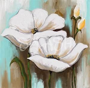 Cuadros de Flores blancas Tienda de Cuadros Splash Modernos pintados Baratos y de Calidad