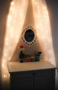 leslie loves makeup diy fairy light vanity area original
