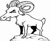 Goat Coloring Billy Pages Goats Printable Clipart Colouring Gruff Animal Clip Children Funny Animals Drawn Sheet Cliparts Library Popular sketch template