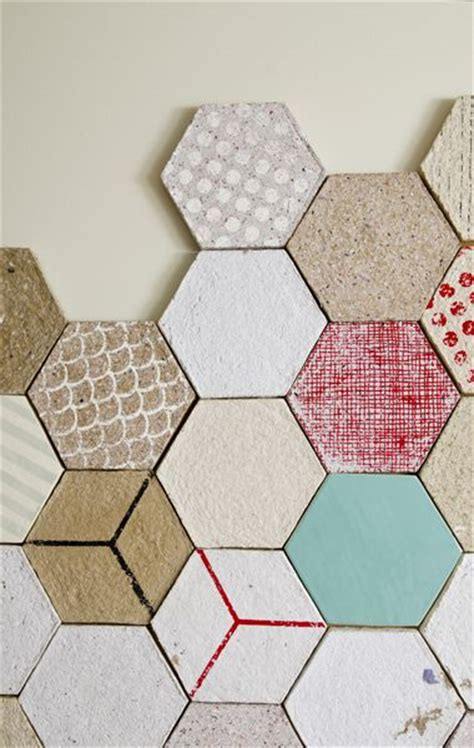 moulded recycled paper and ceramic tiles can be used as
