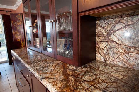 rainforest brown granite kitchen  bowie md
