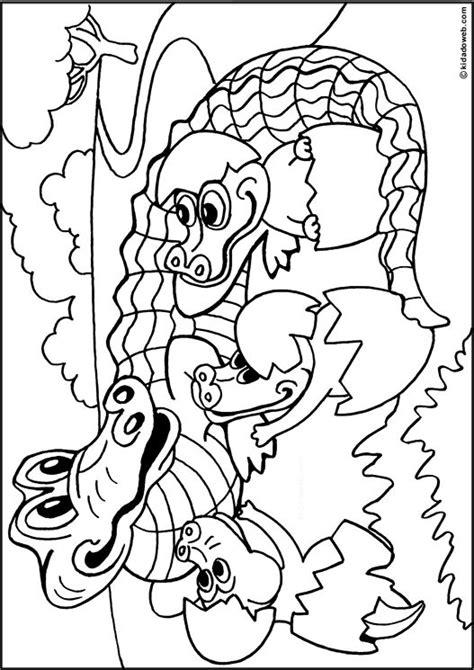 Krrrr Okodil Kleurplaat by Kleurplaat Krokodil Met Jong Coloriage Animaux Alligator