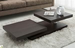 Tavolino design con piani girevoli Ilice Arredo Design Online