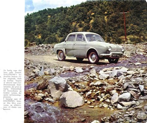 1956 Renault Dauphine brochure