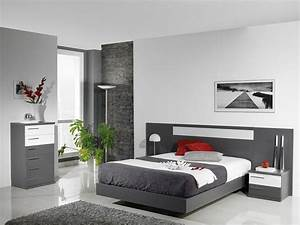 Dormitorio gris y blanco Tomás