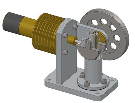 Скачайте 3d модель двигатель стирлинга для печати на 3d принтере бесплатно на платформе the3d