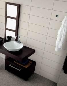 carrelage de salle de bain blanc mat avec petit joint gris With carrelage blanc brillant salle de bain