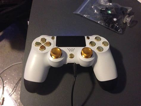 White And Gold Ps4 Controller