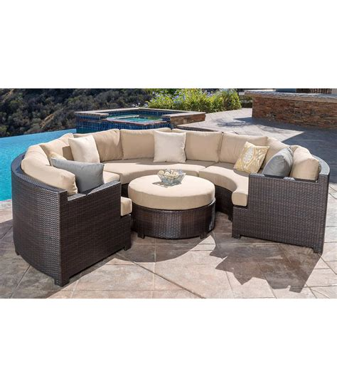 patio furniture belmont 4 curved sectional set