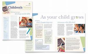 child care preschool newsletter template word publisher With childcare newsletter templates