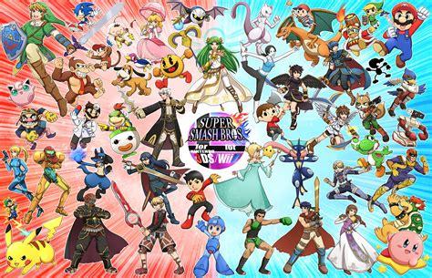 Smash Bros Anime Wallpaper - nintendo pac duck hunt wii fit smash bros