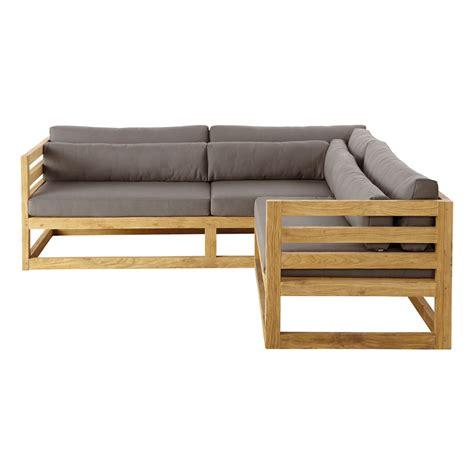 canap d angle jardin canapé d 39 angle de jardin 3 4 places en teck cyclades
