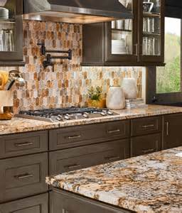 kitchen countertops and backsplash pictures caravelas gold granite taos picket contemporary