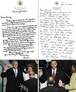 bush letter to obama home daily mail 47566