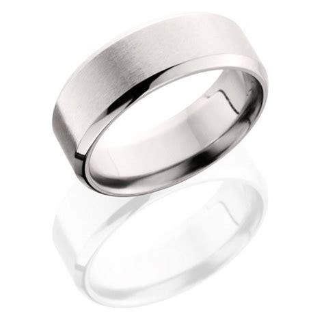 mm wide cobalt flat mens wedding band  angle stone