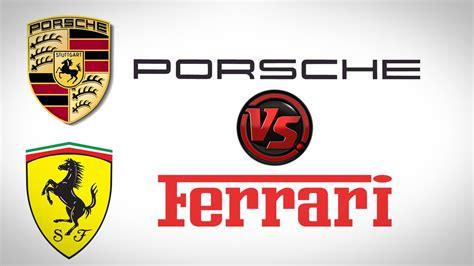 ferrari porsche logo ferrari laferrari против porsche 911 gt3 rs какая круче