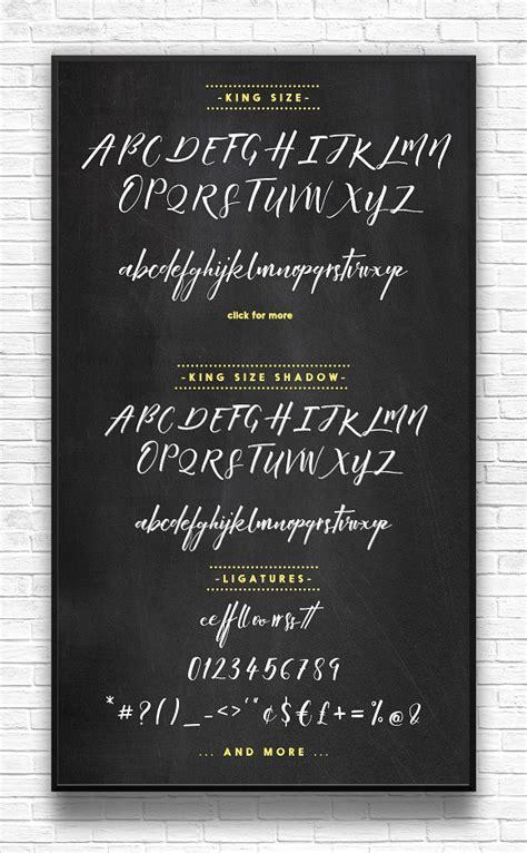 king size script font befontscom