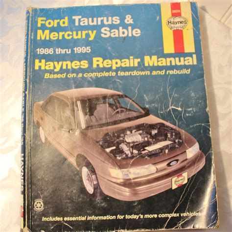 best auto repair manual 1995 ford taurus on board diagnostic system service manual 1986 mercury sable replacement procedure ford taurus mercury sable 1986 thru