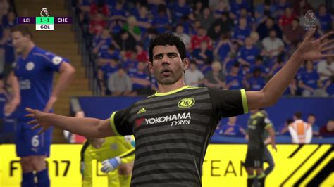 Leicester vs Chelsea jornada 21 premier League FIFA 17 ...