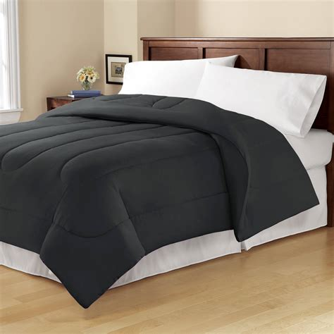 Solid Reversible Bedding Alternative Comforter Bed Cover