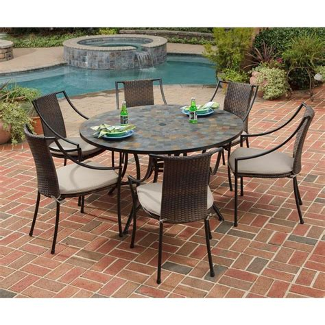 home styles harbor 7 patio dining set
