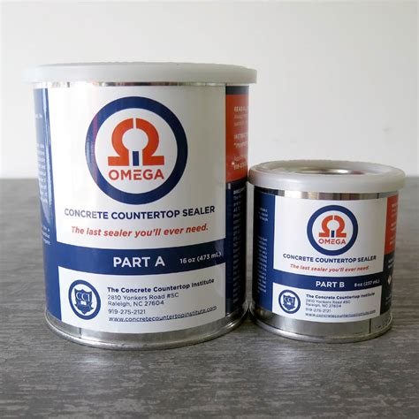 sealer for concrete countertops omega concrete countertop sealer concrete countertop