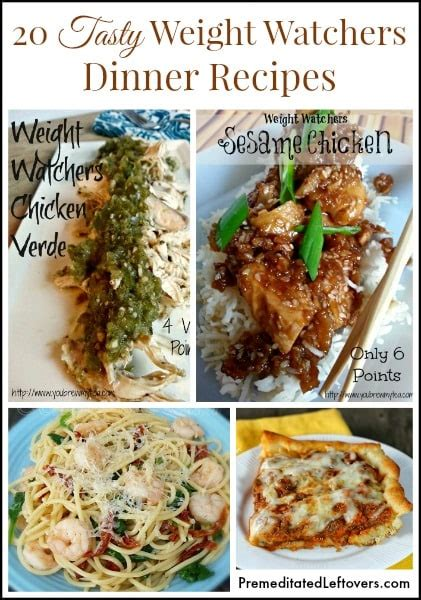 Weight Watchers Dinner Recipes with Points