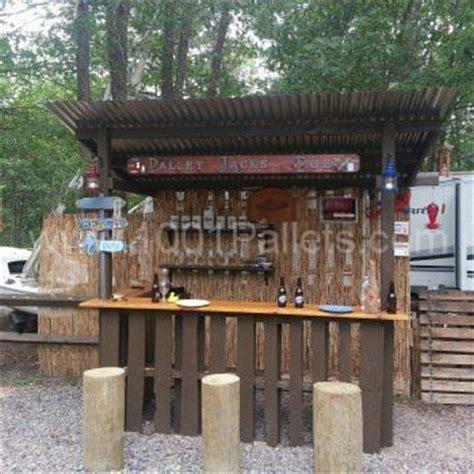 pallet backyard tiki bar diy outdoor bar backyard bar