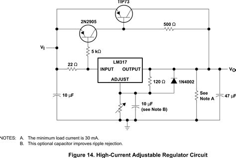 purpose and explanation of resistor near output of lm317 high current adjustable regulator