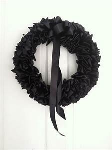 Black, Ribbon, Wreath, Funeral, Mourning, Wreath, Loss, Grief, 16, Inch