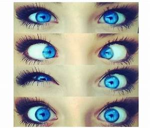 blue eyes! I wish my eye were this color! Contacts ...