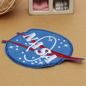 Logo Embroidered NASA Pattern Patch Sew On Patch Badge ...