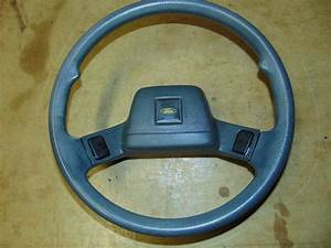 Ford Festiva Steering Wheel With Center Horn Buttons Gray