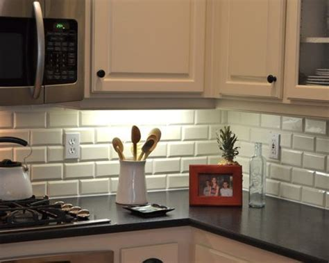 Beveled Subway Tile Backsplash   Houzz