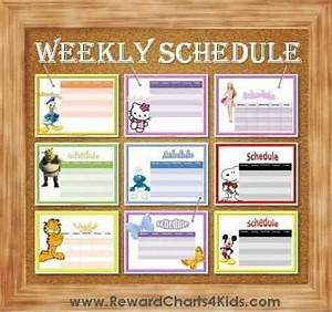Free Potty Reward Chart Weekly Schedule Template