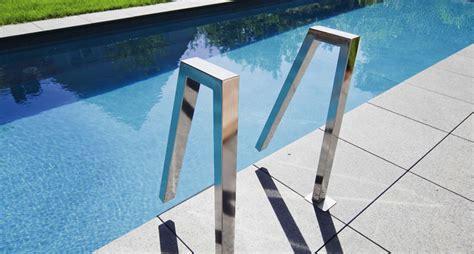 escalier inox pour piscine mat 233 riel piscine volet immerg 233 courante inox escaliers design piscines fitness sa