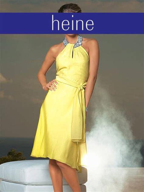 heine kleid mstrass gelb gr neu ebay