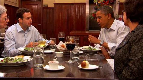 dinner with barack two teachers an army veteran a small
