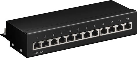 Patch Panel 12 by Goobay 62066 Mini Patchpanel 12 Cat 6a 1 He Bei