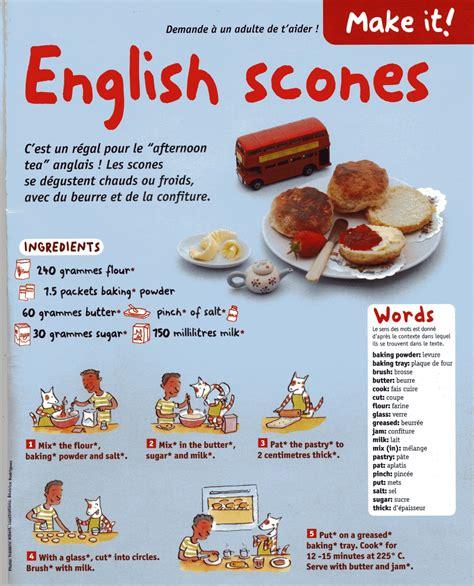 recette cuisine en anglais classe de cm2 ecole ste asserac