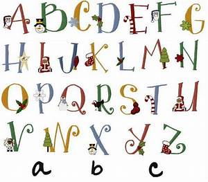 16 christmas alphabet fonts images christmas alphabet With holiday alphabet letters