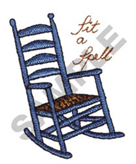 great notions embroidery design sit a spell rocking chair