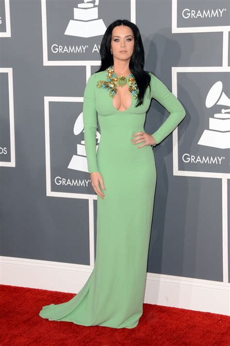 katy perry wears gucci grammy awards la