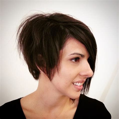 Short Asymmetrical Bob Hairstyle