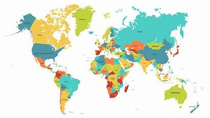 Map Countries Names Country Maps Colored Vector