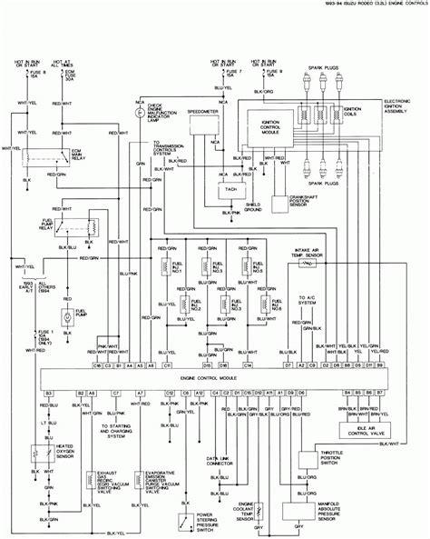 1990 isuzu wiring diagram electrical drawing wiring