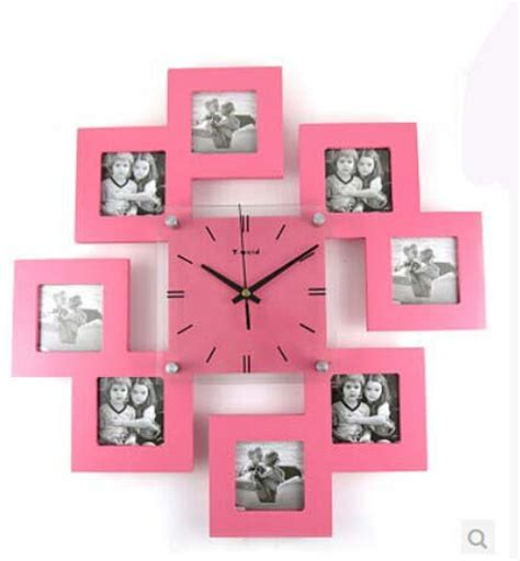 kingart grande num 233 rique en bois photo cadre horloge murale d 233 corative enfants mur accueil