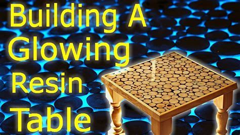 Making an Epoxy Resin and Wood Art Coffee Table   Glow in